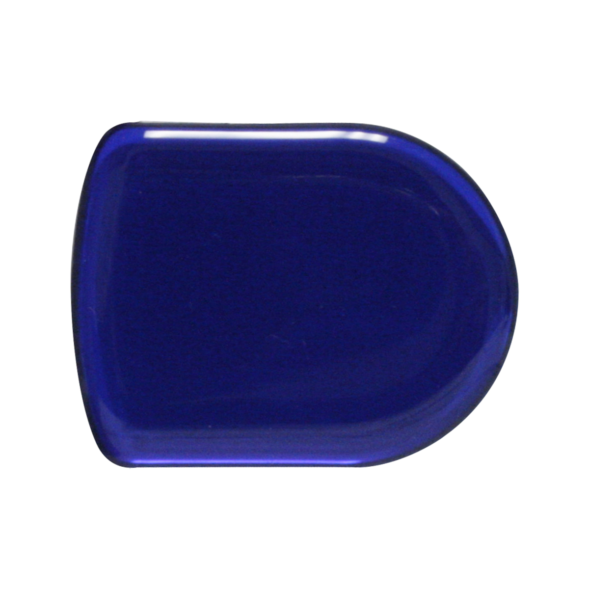 93122 Plain Blue D-Shape Glossy Sticker