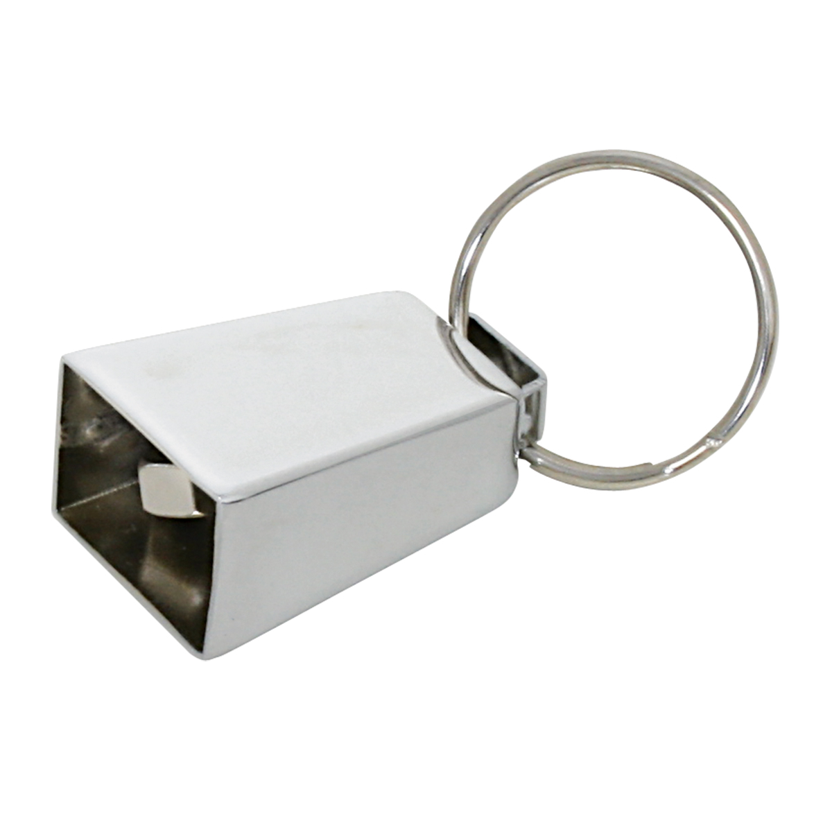 93359 Chrome Mini Cow Bell Key Chain