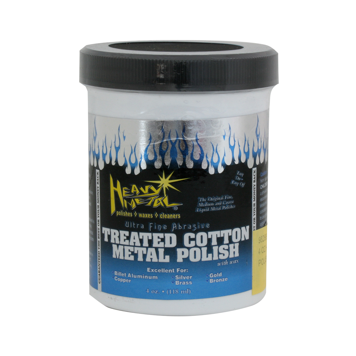Heavy Metal Polish White Cotton