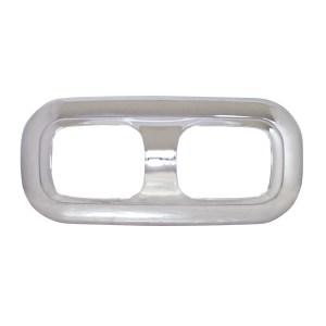 52019 Chrome Plastic Dual Dome Light Trim Cover for Pete