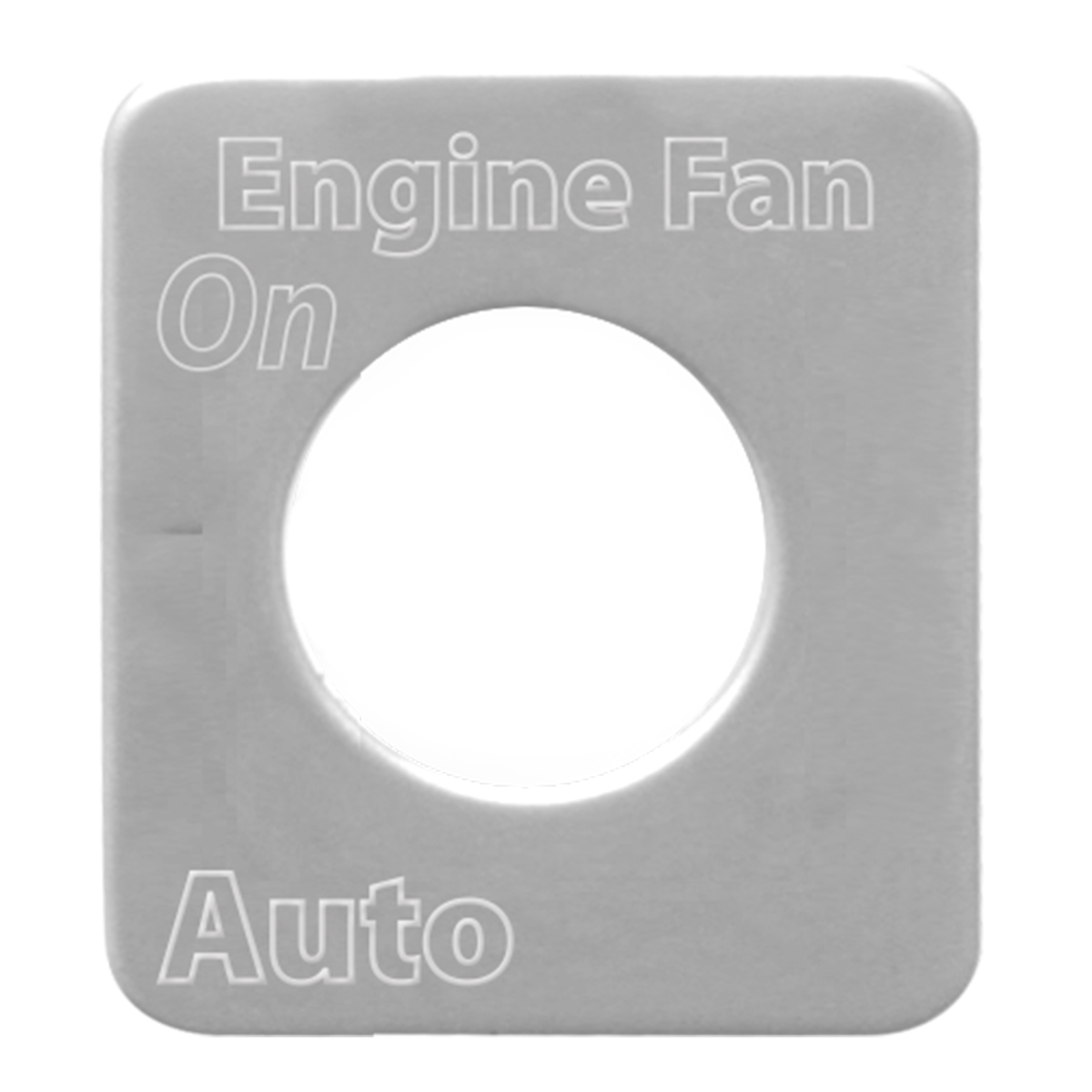 68537 Stainless Steel Engine Fan Switch Plate for KW