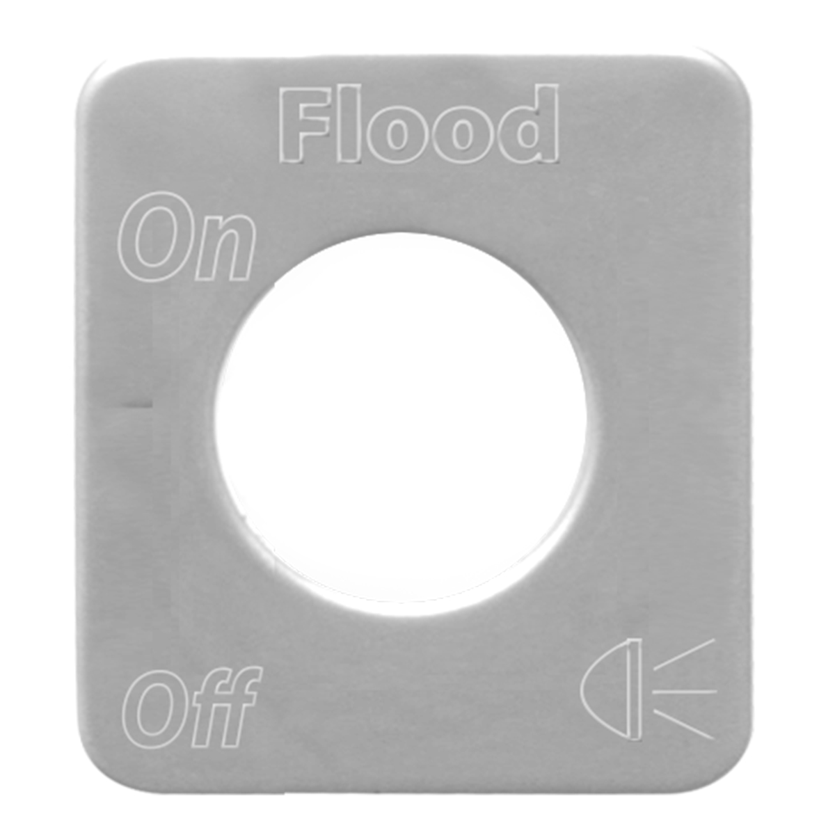 68540 Stainless Steel Flood Light Switch Plate for KW