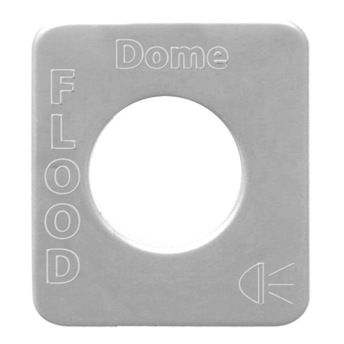 68544 Stainless Steel Dome Floor Light Switch Plate for KW