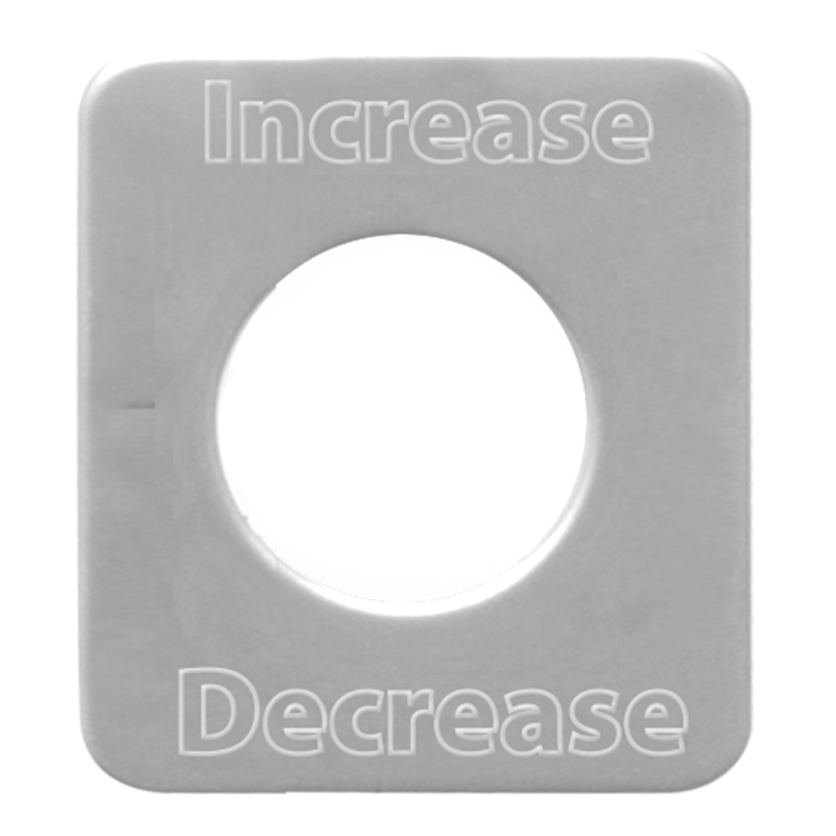 68581 Stainless Steel Increase/Decrease Switch Plate for KW