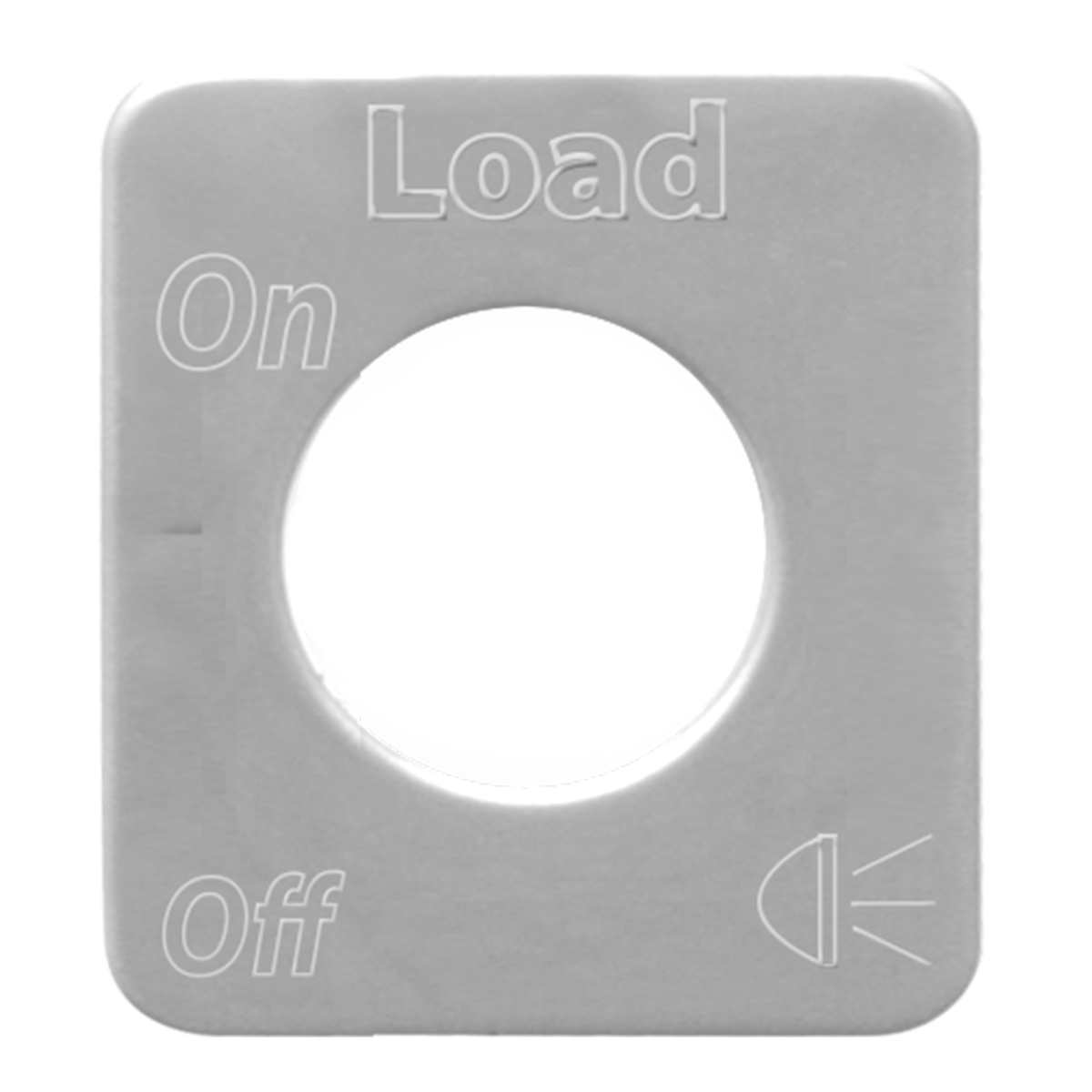 68582 Stainless Steel Load Light Switch Plate for KW