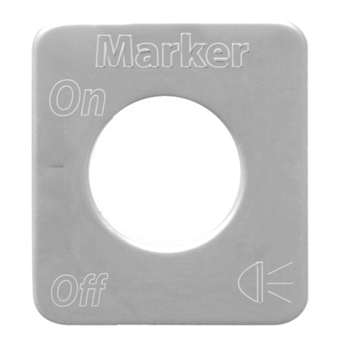 68585 Stainless Steel Marker Light Switch Plate for KW