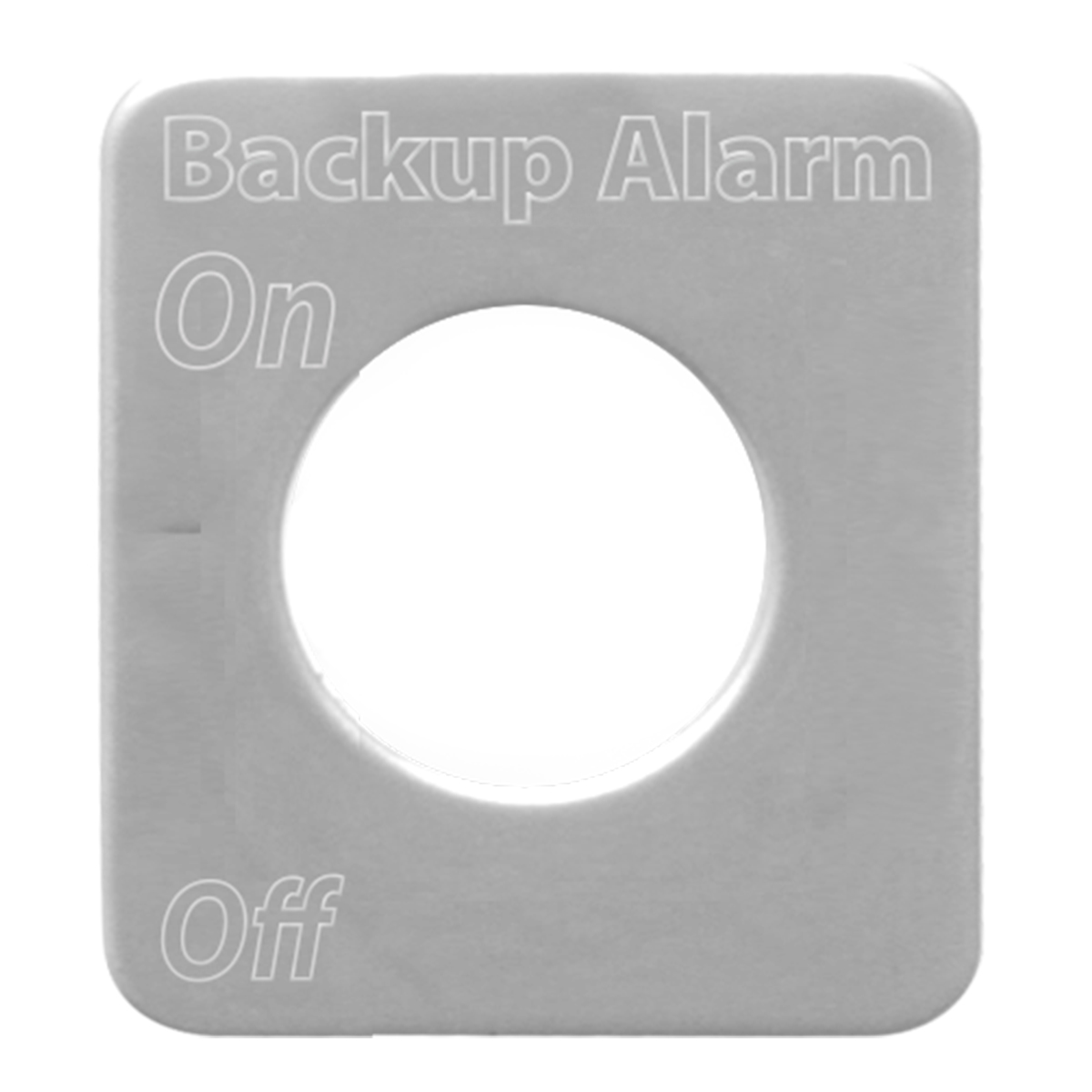 68600 Stainless Steel Backup Alarm Switch Plate for KW