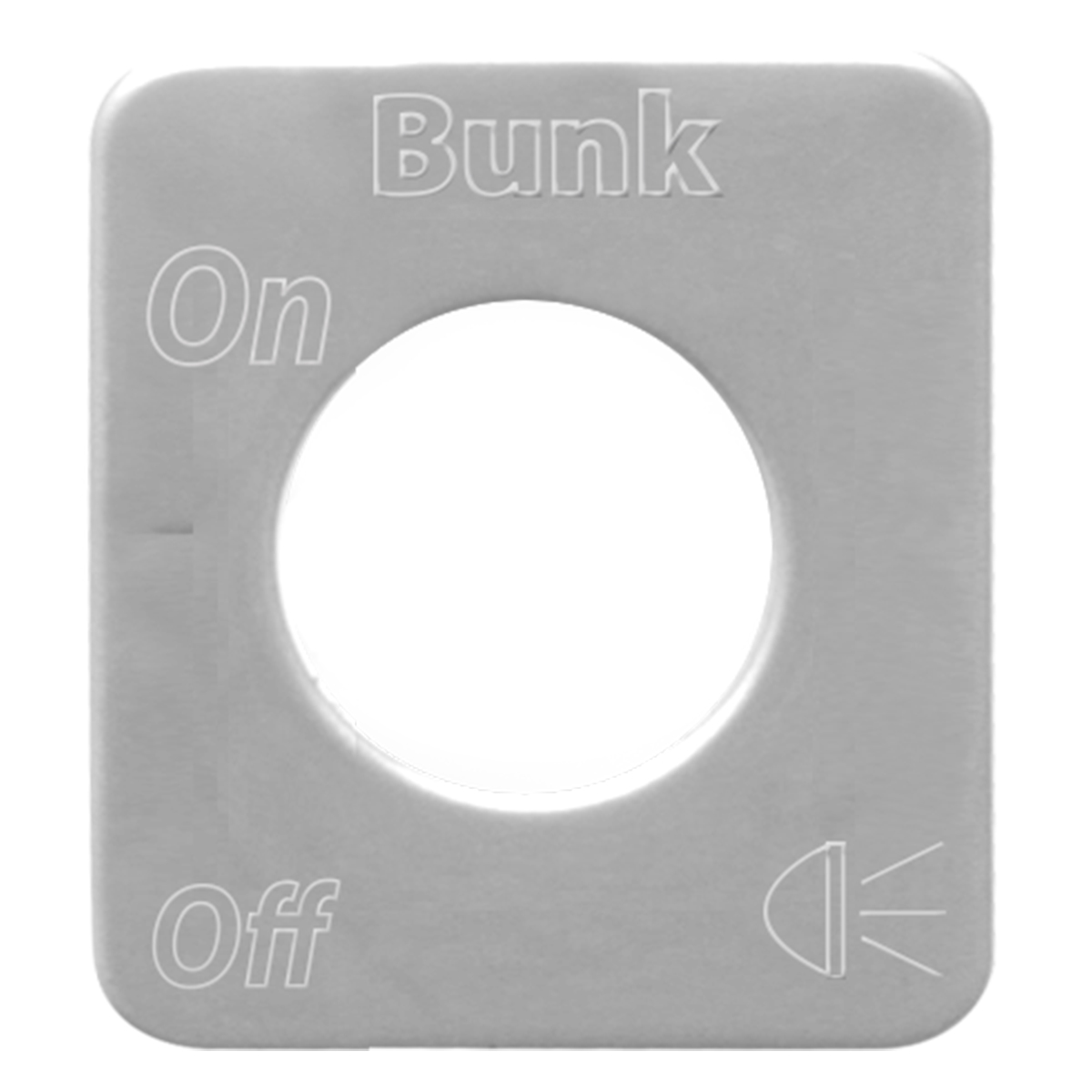68604 Stainless Steel Bunk Light Switch Plate for KW