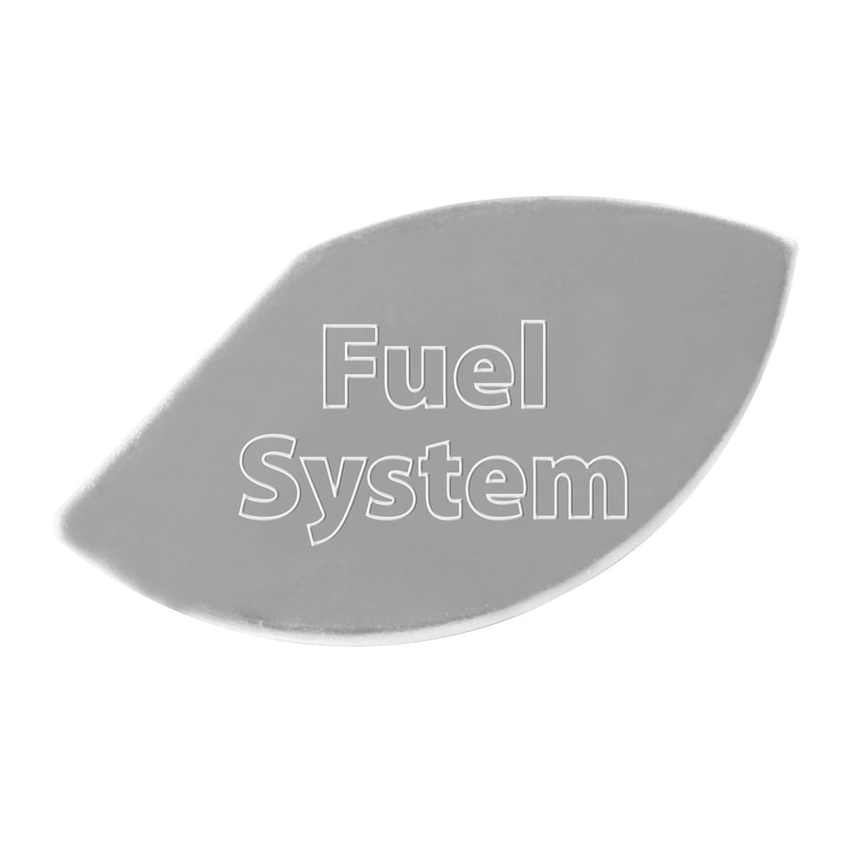 68657 Stainless Steel Fuel System Gauge Emblem for KW