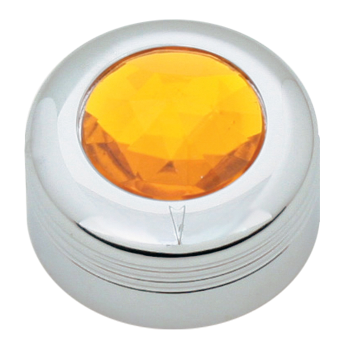 Chrome Plastic A/C Knob w/ Amber Plastic Crystal for Pete