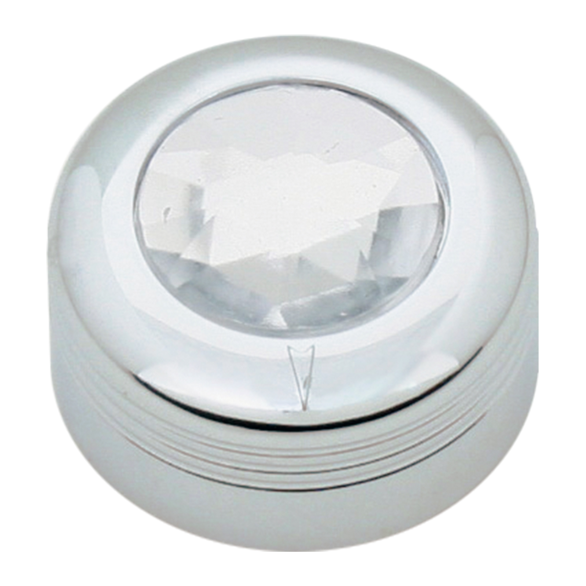 Chrome Plastic A/C Knob w/ Clear Plastic Crystal for Pete