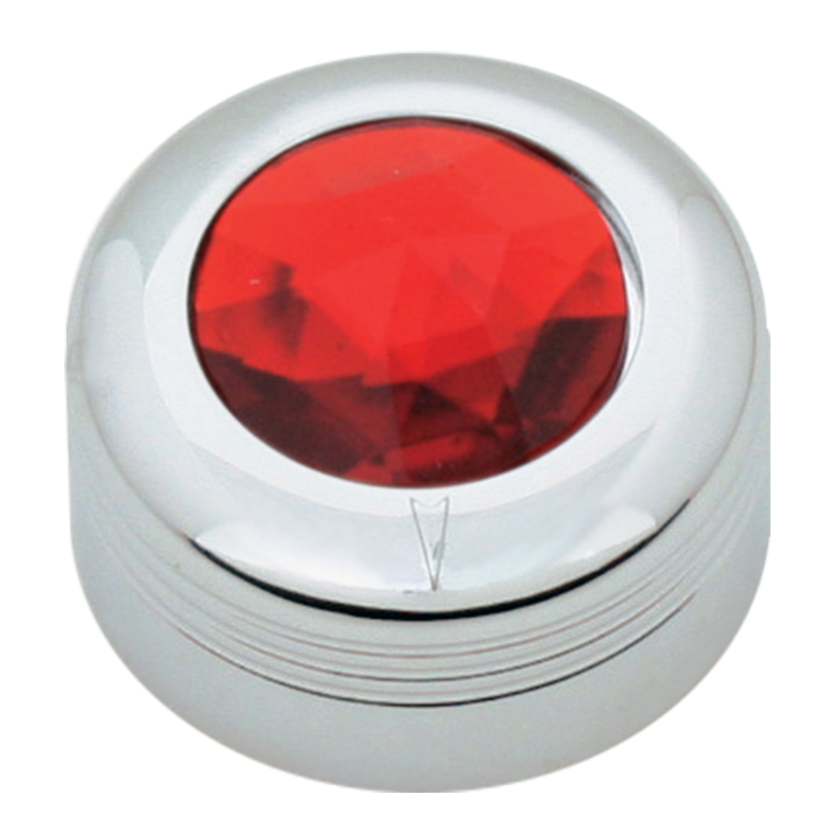 Chrome Plastic A/C Knob w/ Red Plastic Crystal for Pete