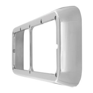 87591 Chrome Plastic Rectangular Dual Headlight Bezel