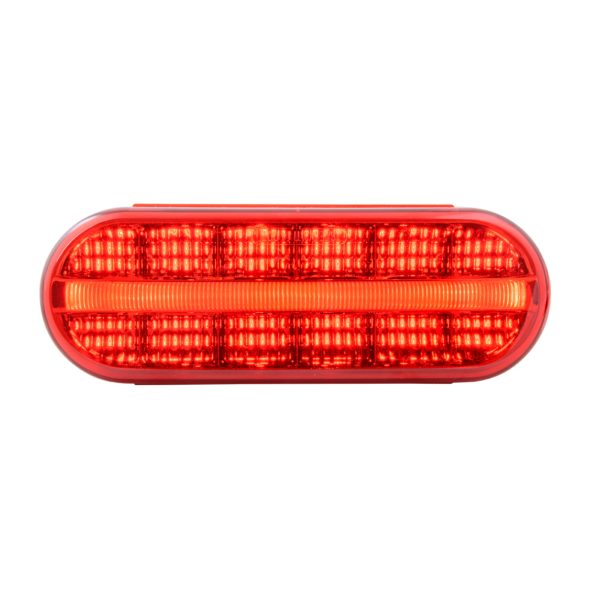 74852 Oval Prime Spyder LED Light in Red/Red
