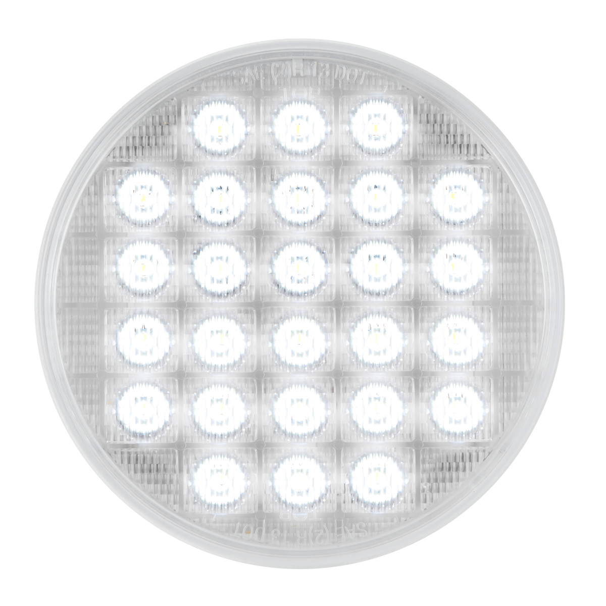 "74894 Sequential 4"" Smart Dynamic LED Light in White/Clear"