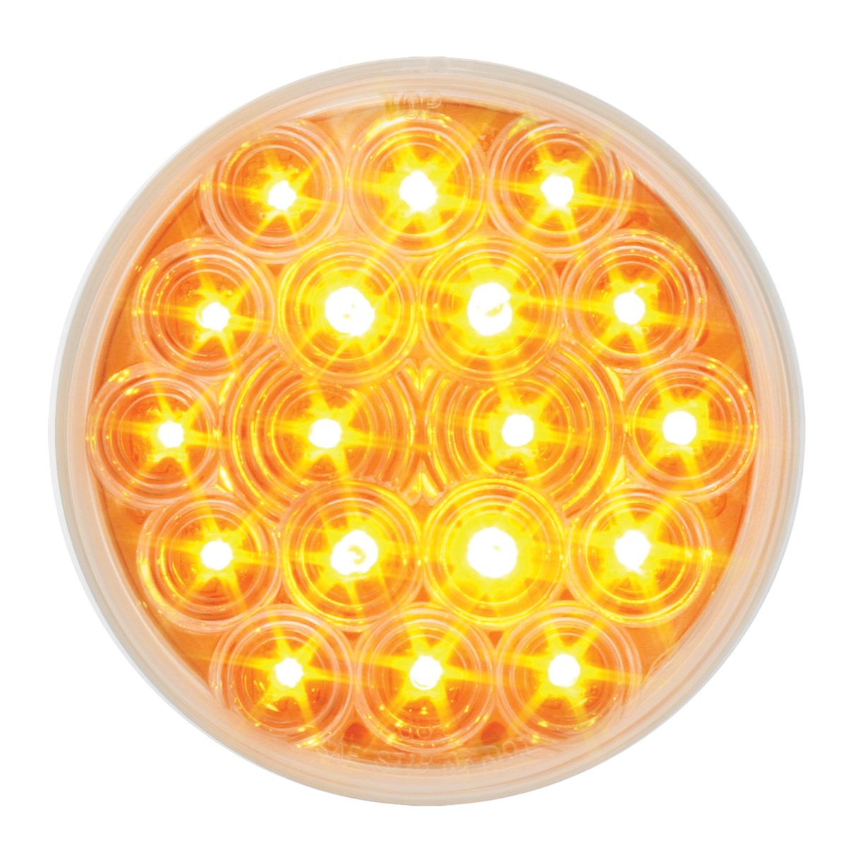 "76451 4"" Fleet LED Light in Amber/Clear"