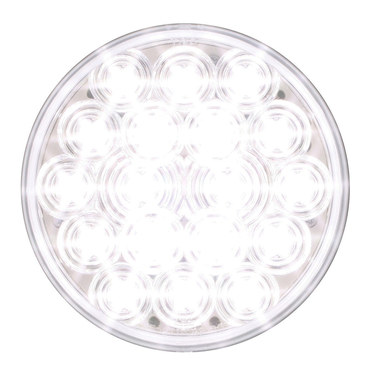 "76454 4"" Fleet LED Light in White/Clear"