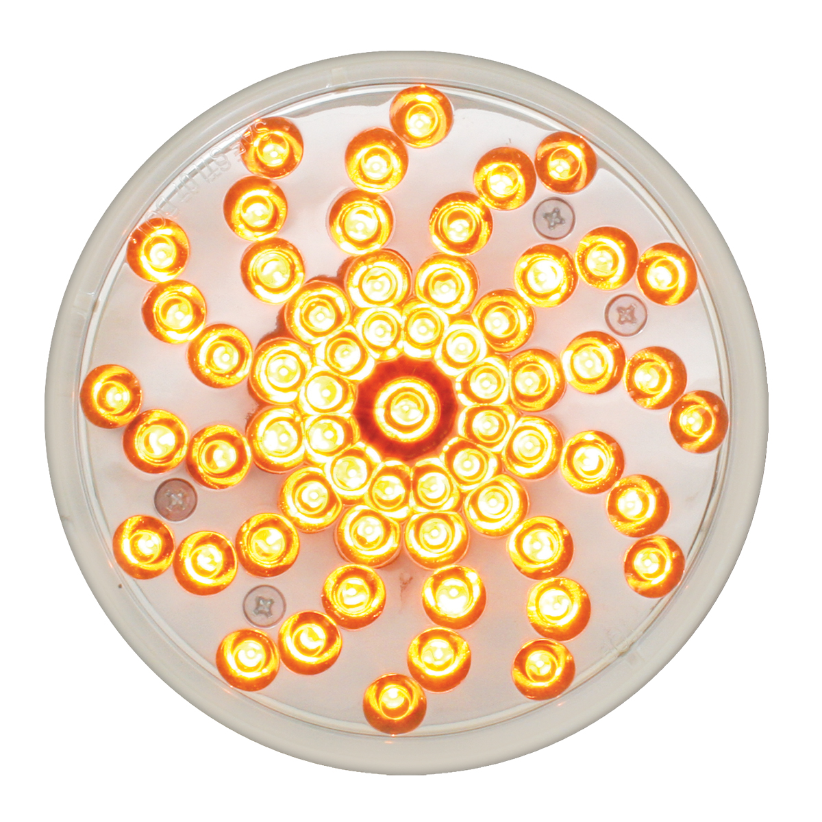 "76721 4"" Twister LED Light in Amber/Clear"