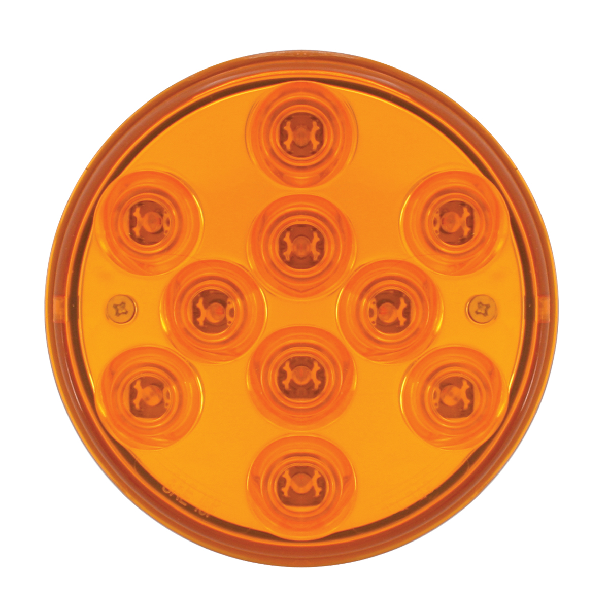 "76840 4"" Mega 10 Plus LED Light in Amber/Amber"