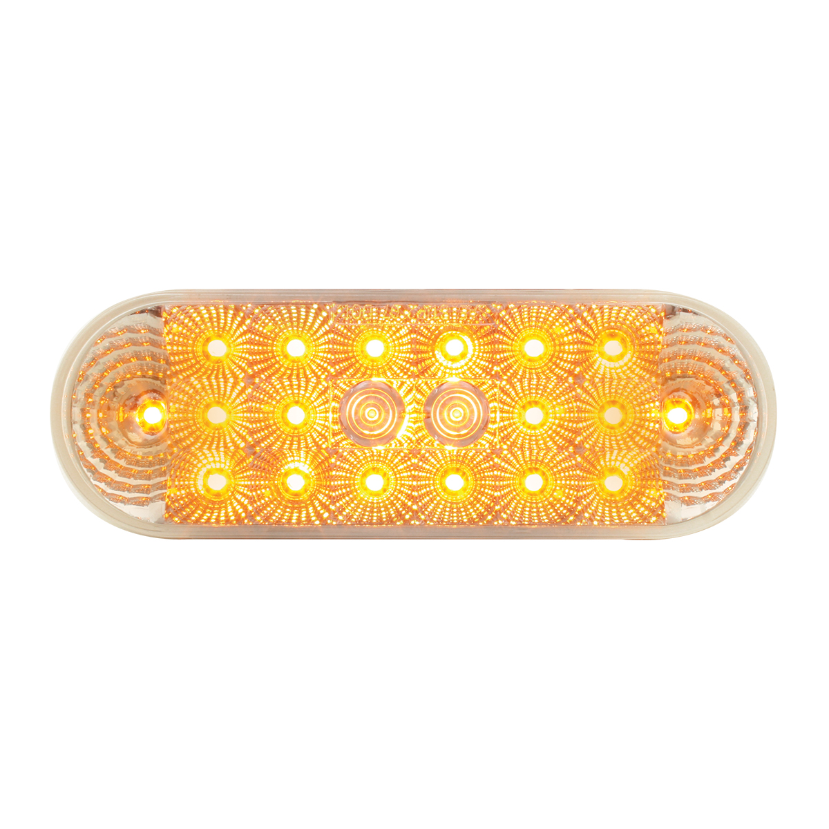 Oval Low Profile Spyder Amber 20, Clear Lens Grand General 77051BP LED Light