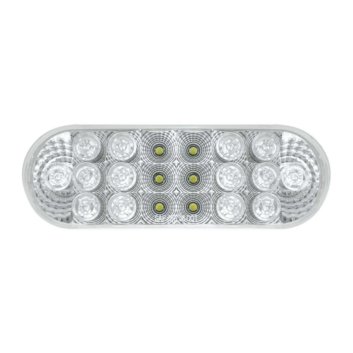 77052 Oval Spyder LED Light in White/Clear