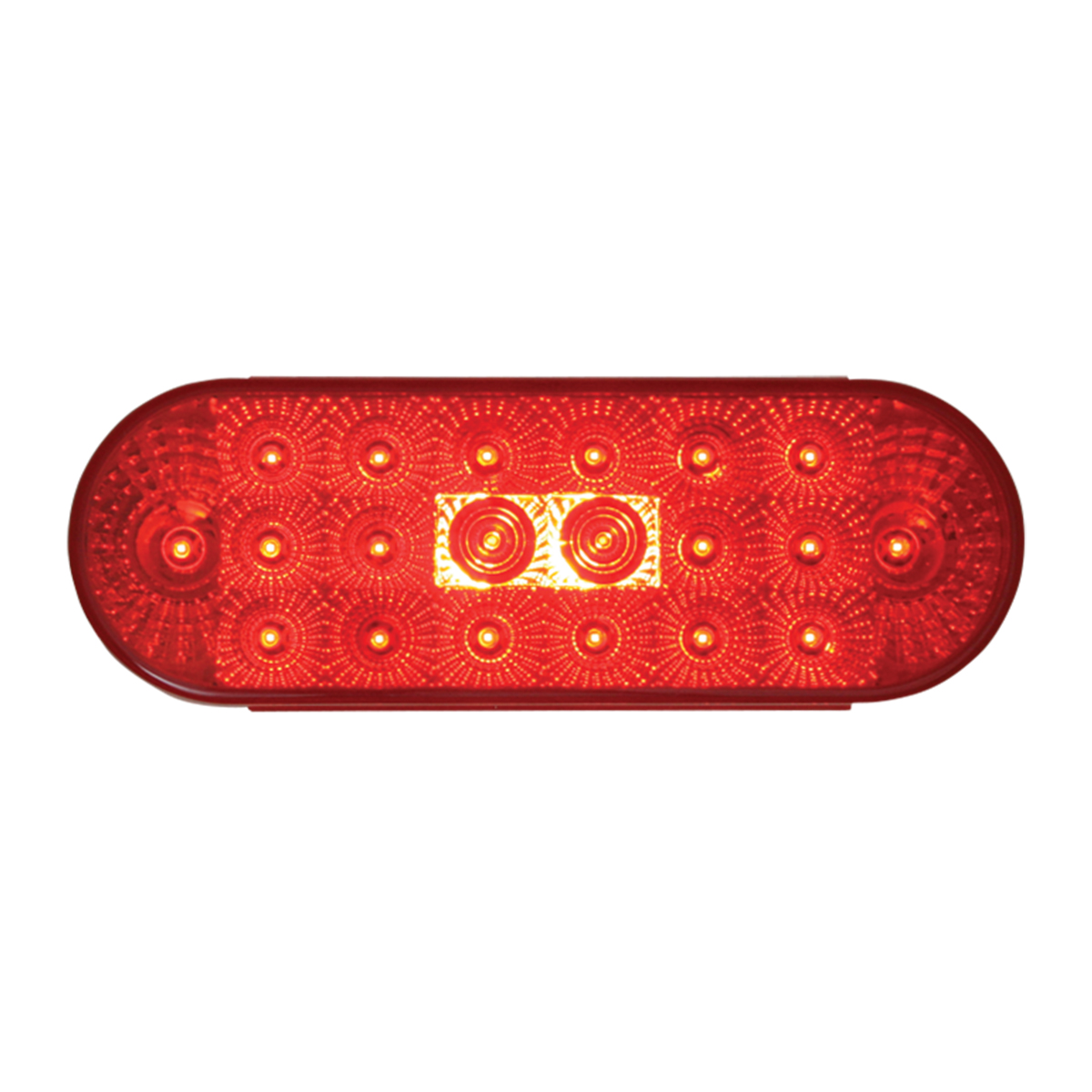 77053 Oval Spyder LED Light in Red/Red