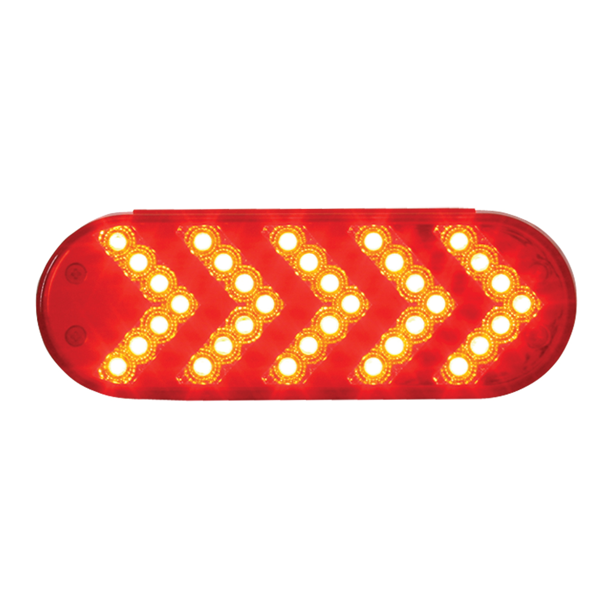77126 Oval Sequential Arrow Spyder LED Light in Red/Red