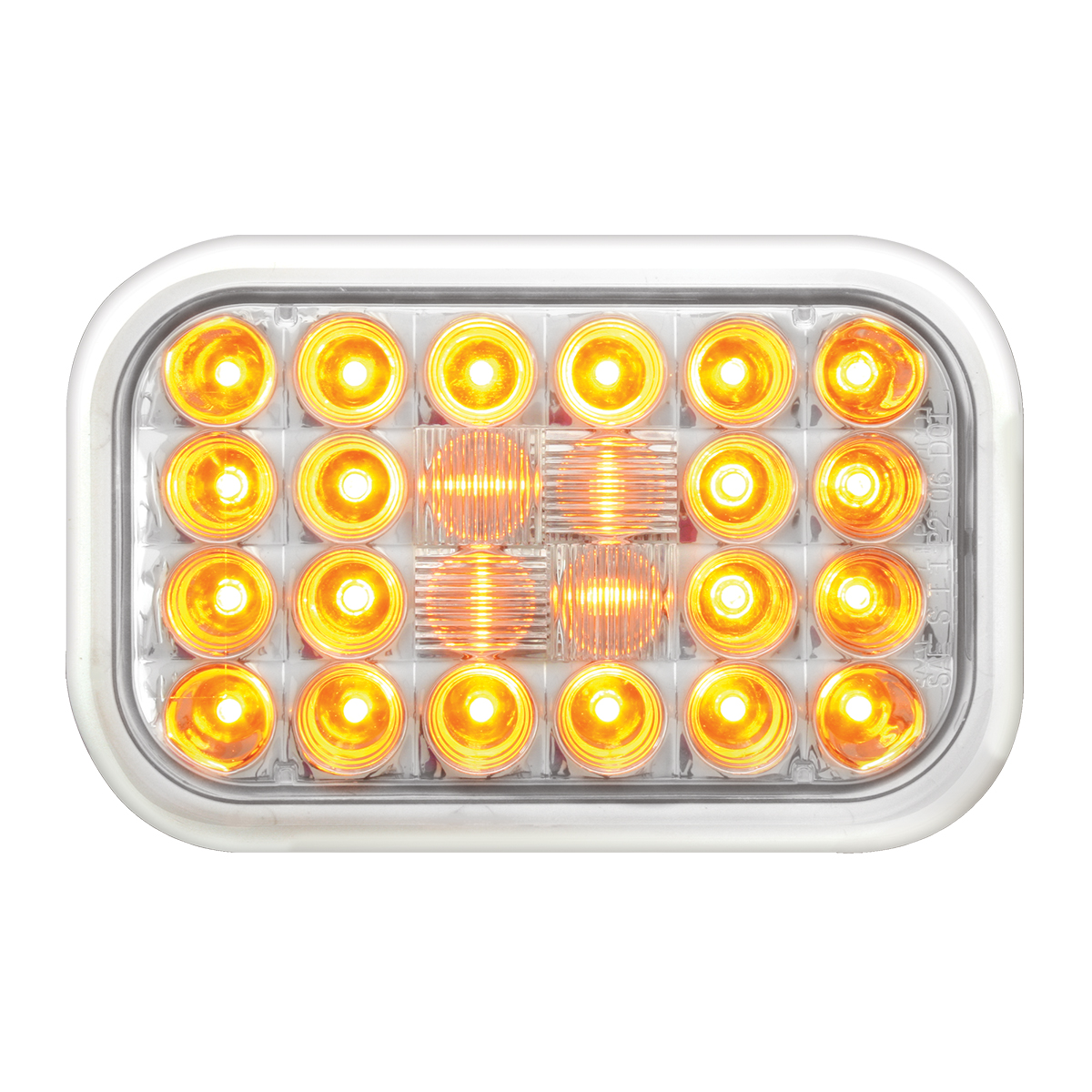 77181 Rectangular Pearl LED Light in Amber/Clear