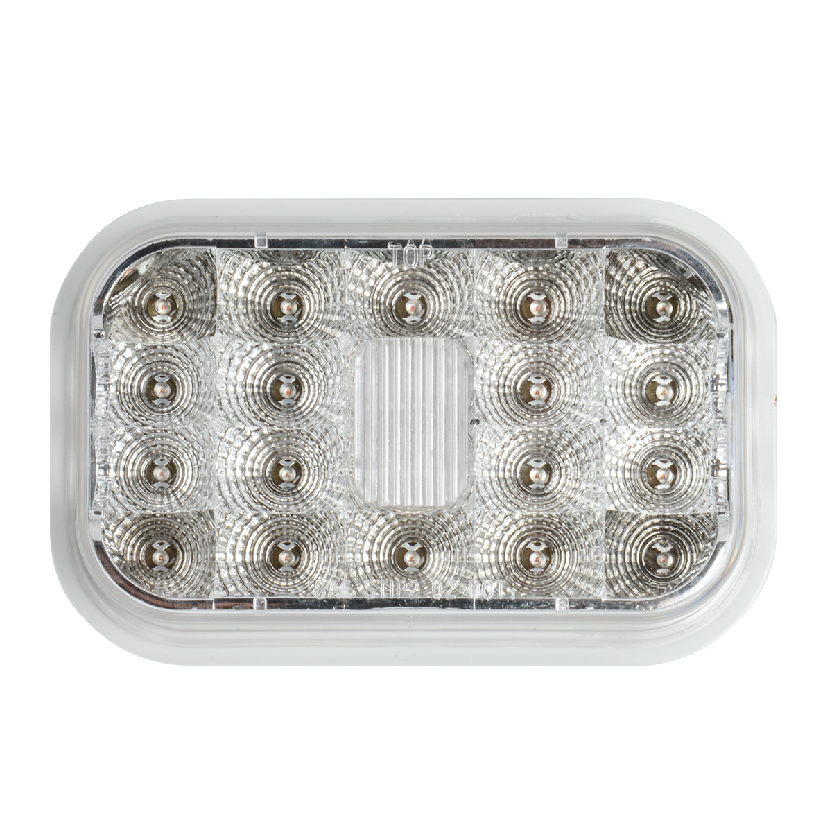 High Profile Rectangular Spyder LED Light in Clear Lens