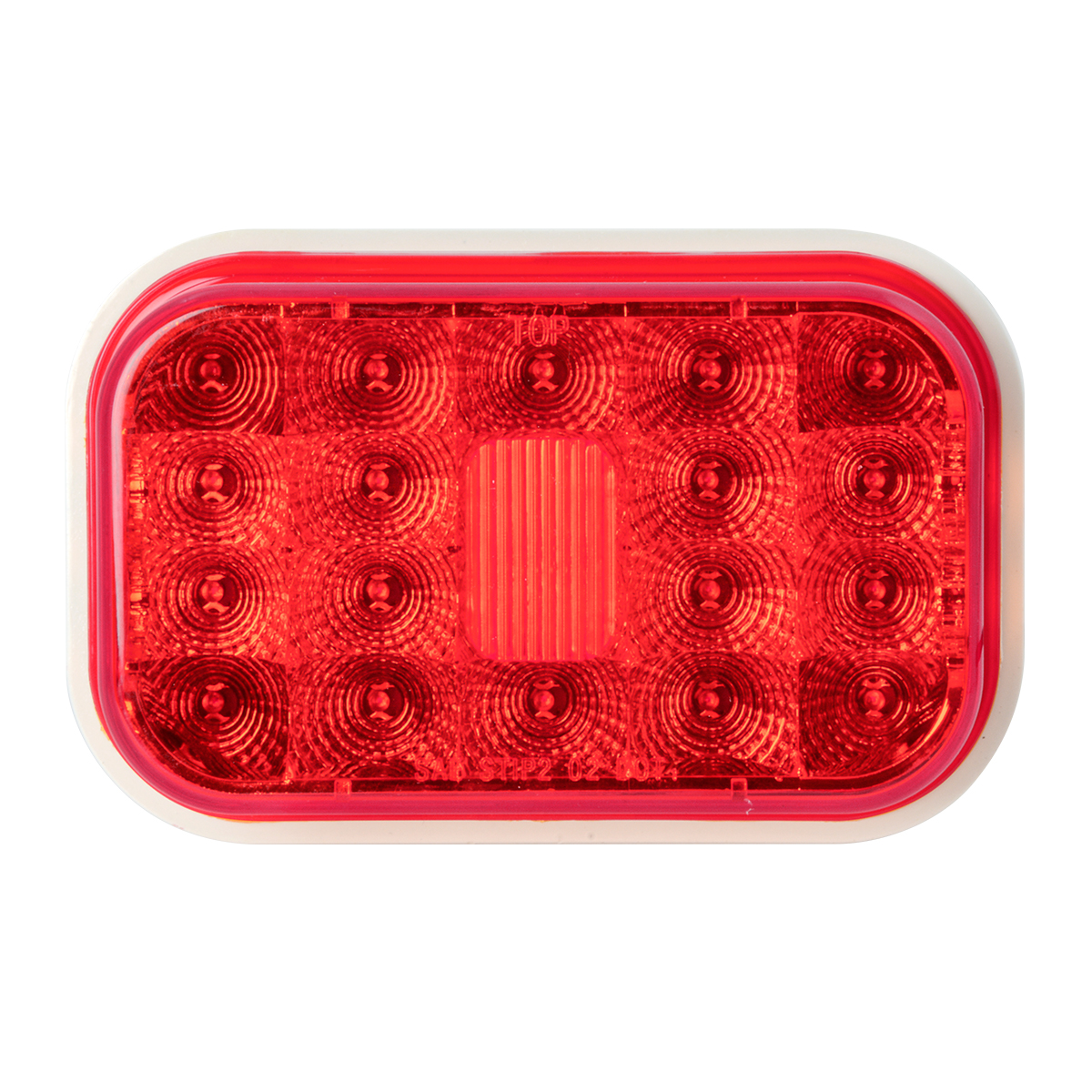 77463 High Profile Rectangular Spyder LED Light in Red/Red