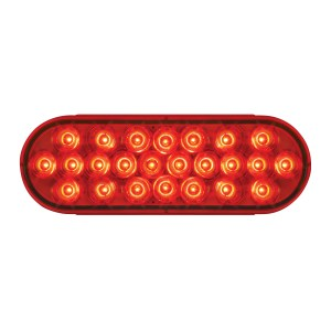 78233 Oval Pearl LED Light in Red/Red