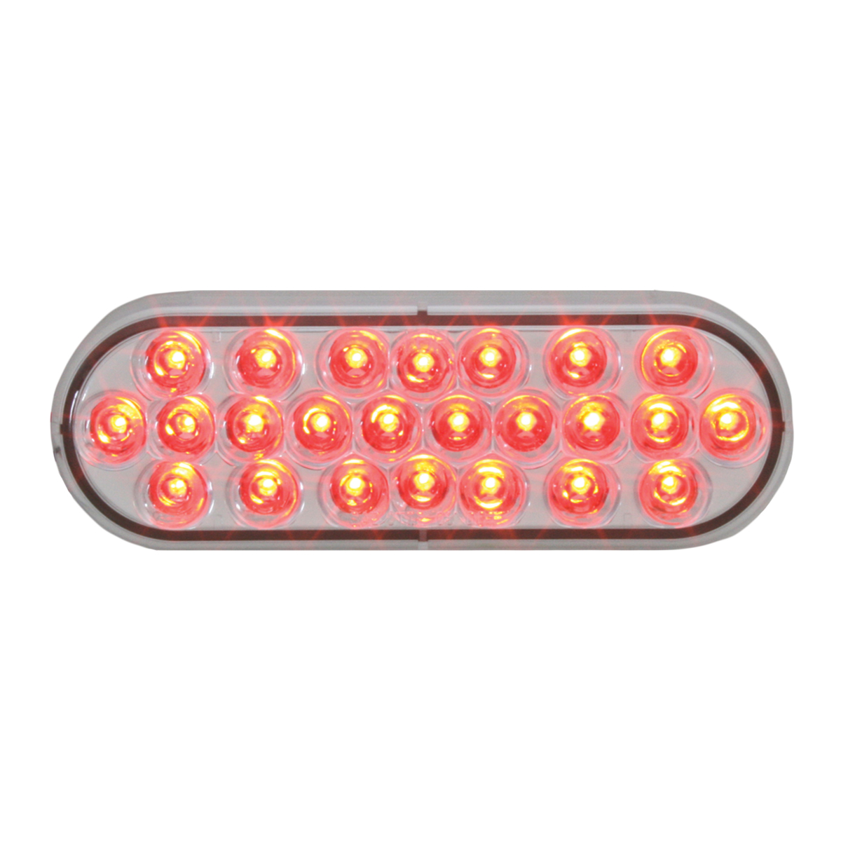 78234 Oval Pearl LED Light in Red/Clear