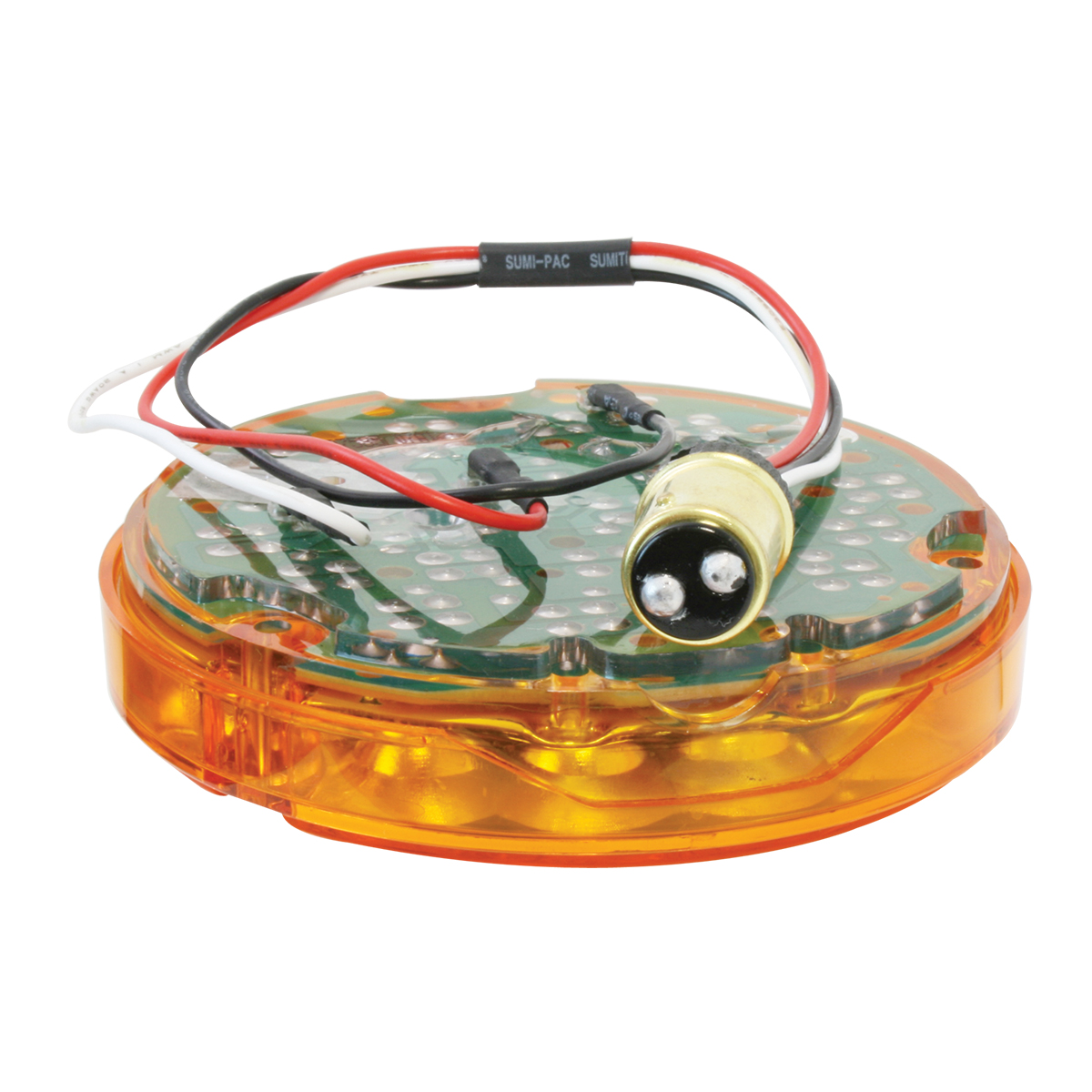 """87585 4"""" Pearl LED Light Only in Amber/Amber"""