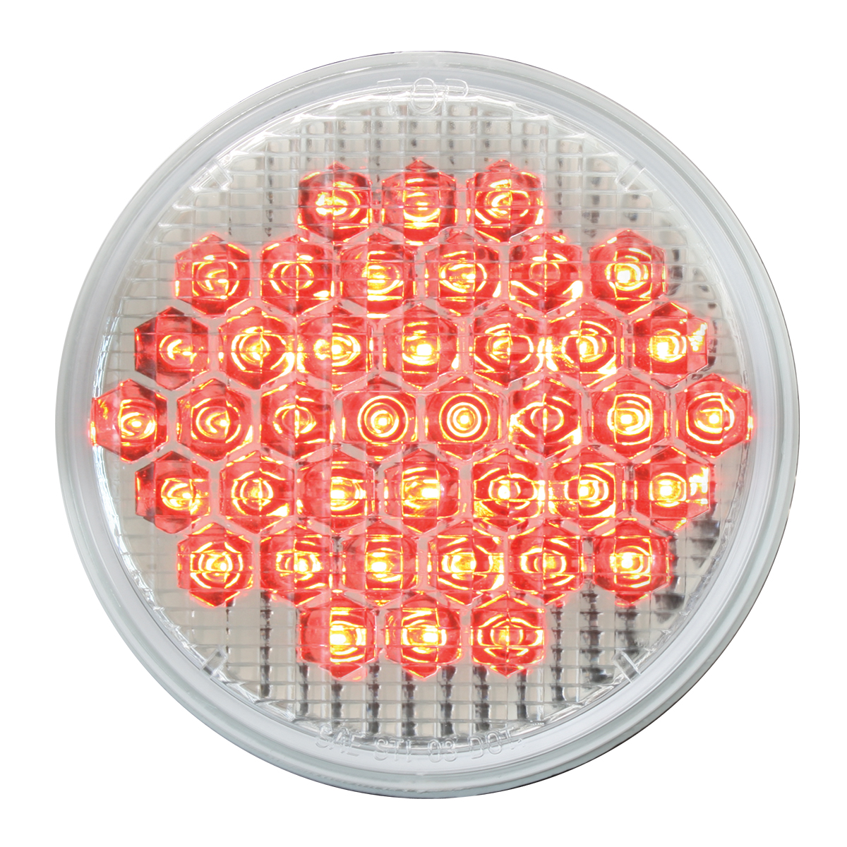 "87706 4"" High Count LED in Red/Clear"