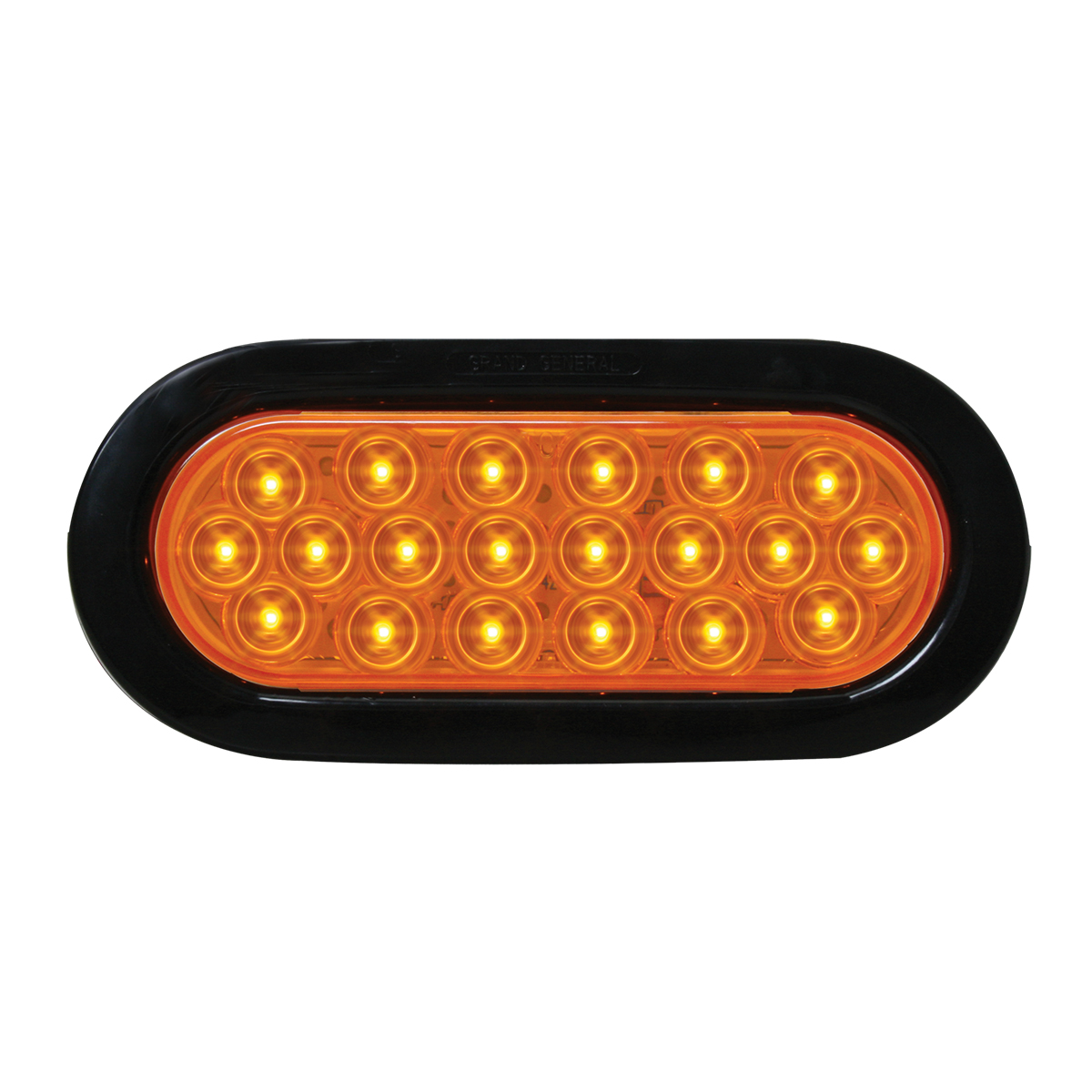 87722 Oval Fleet LED Light w/ Black Rubber Grommet