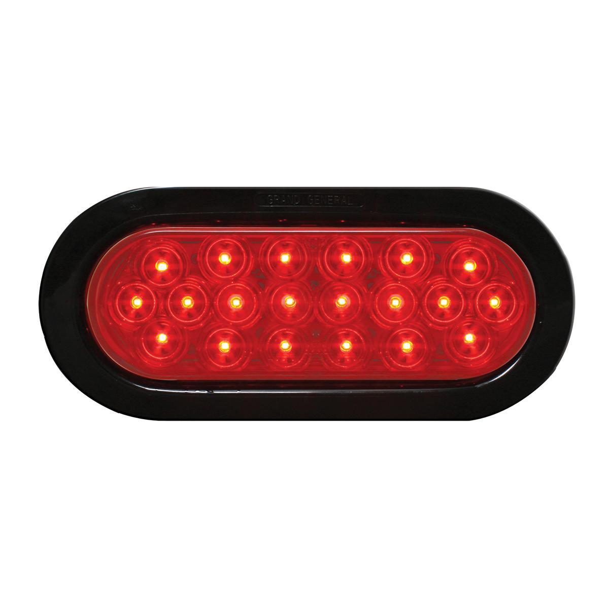 87723 Oval Fleet LED Light w/ Black Rubber Grommet