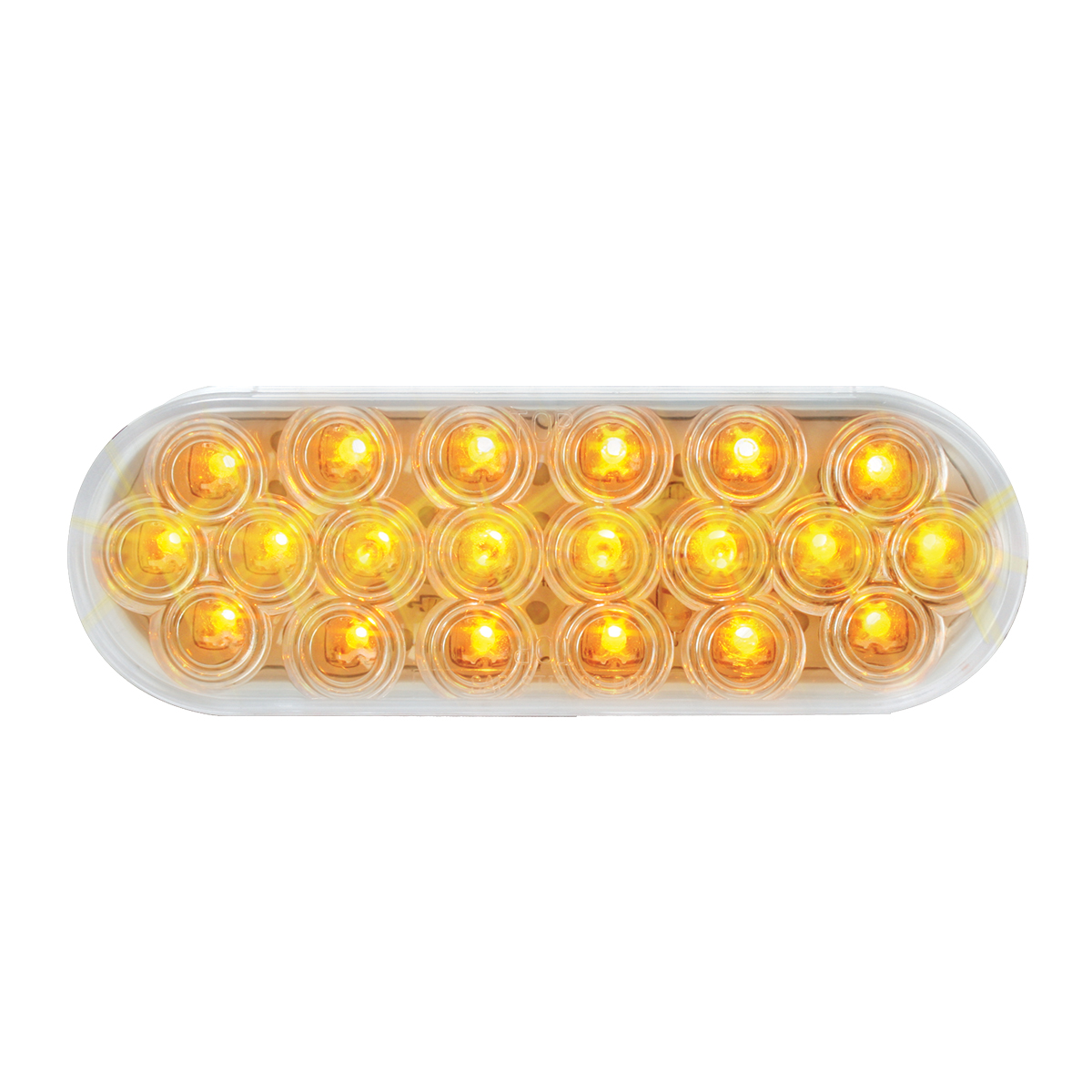 87728 Oval Fleet LED Light in Amber/Clear