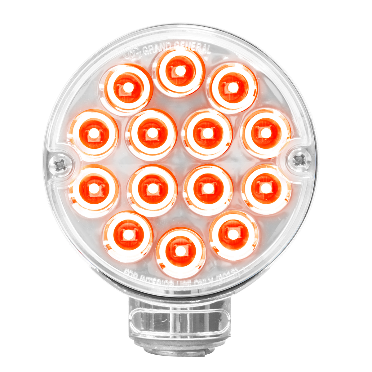 """75192 3"""" Double Face Pearl Red Light - Red/Clear Side"""