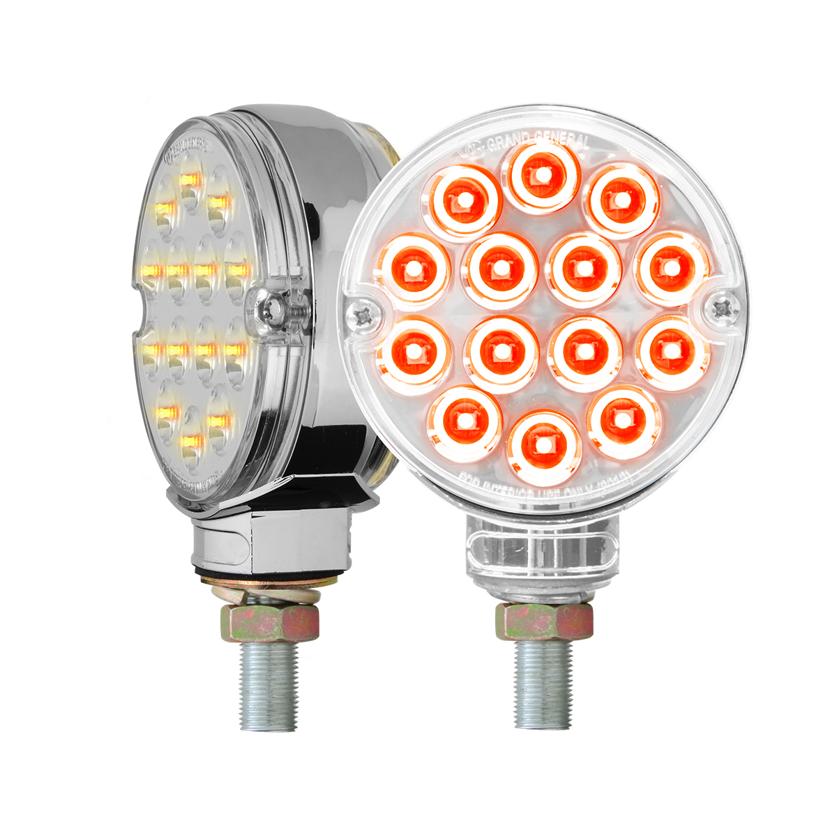 """75195 Twin Pack 3"""" Double Face Pearl LED Pedestal Light"""