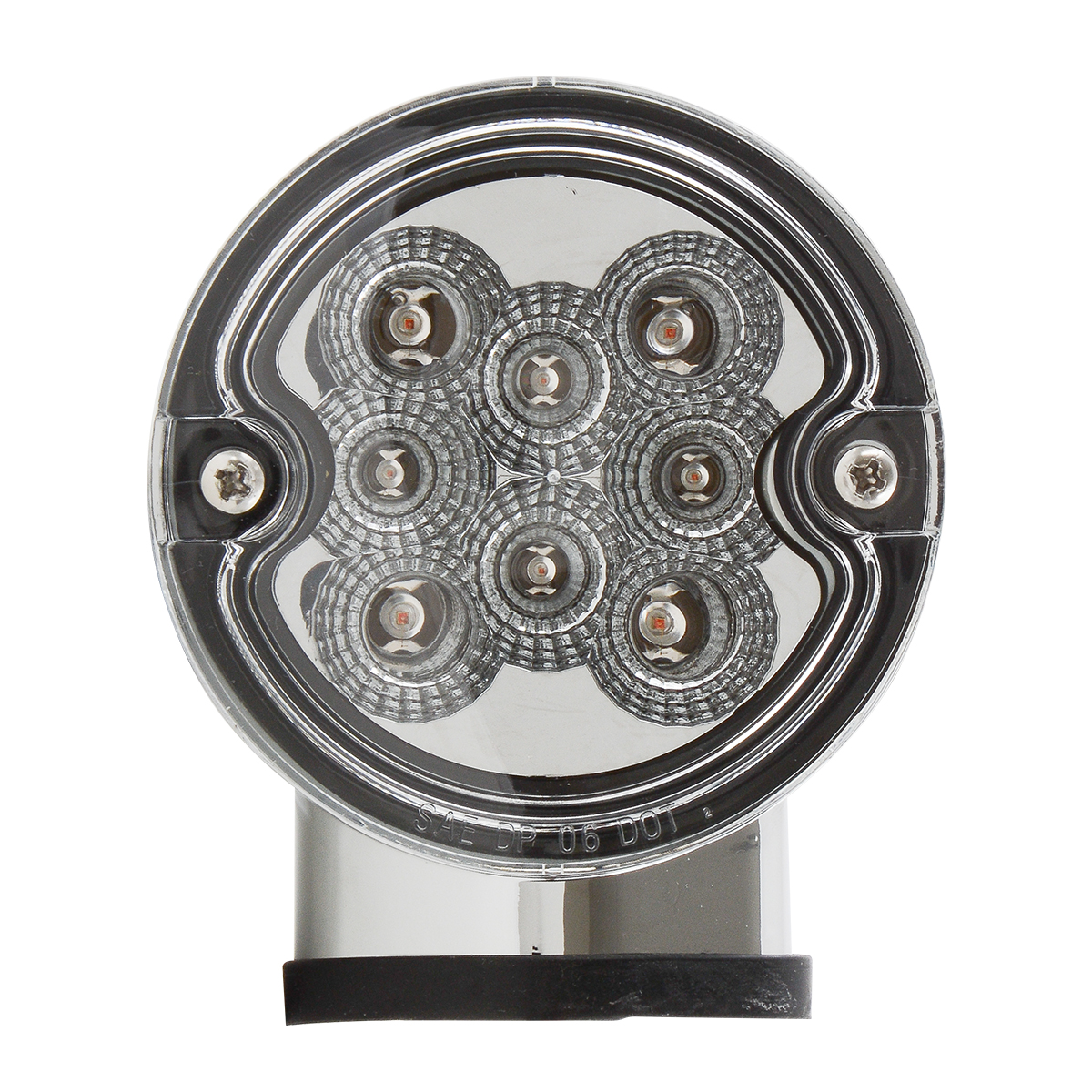 Single Face Projected Spyder LED Pedestal Light in Clear Lens