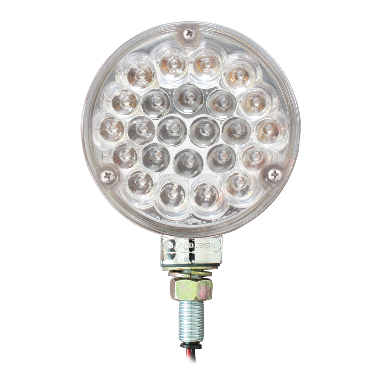 "4"" Single Face Pearl LED Pedestal Light in Clear Lens"