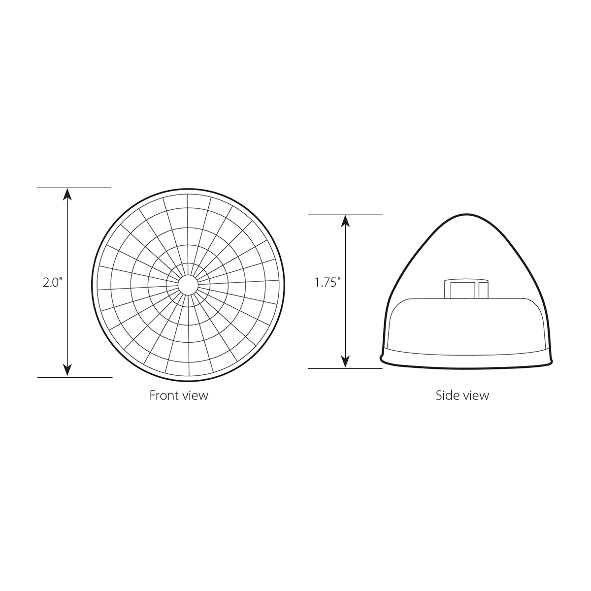 "2"" Beehive Spyder Single LED Light"