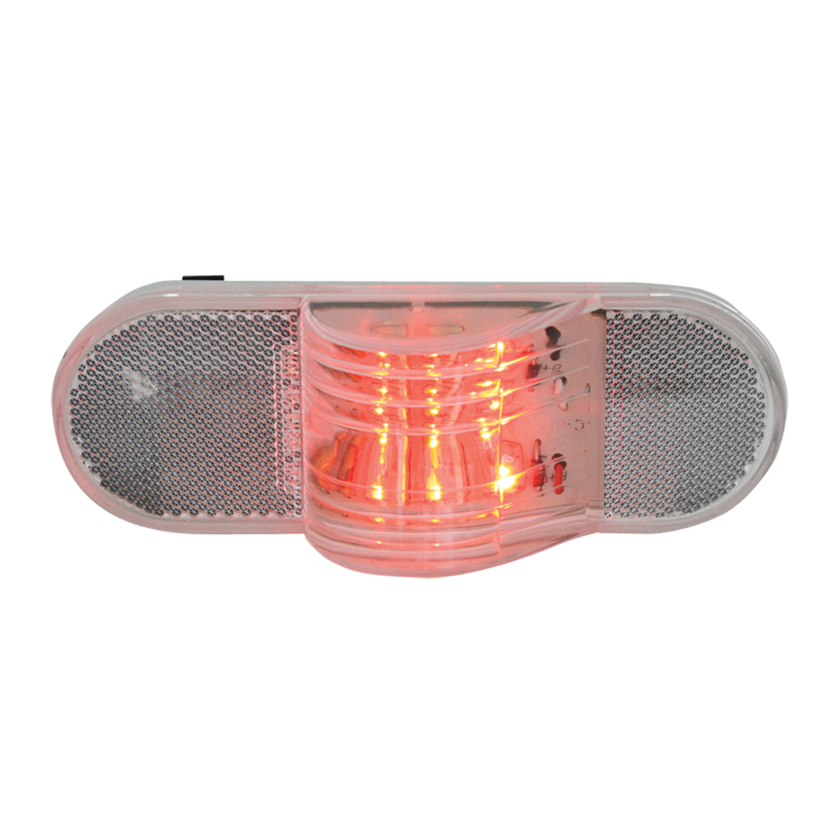 79843 Oval Sider Marker/Turn LED Light in Red/Clear