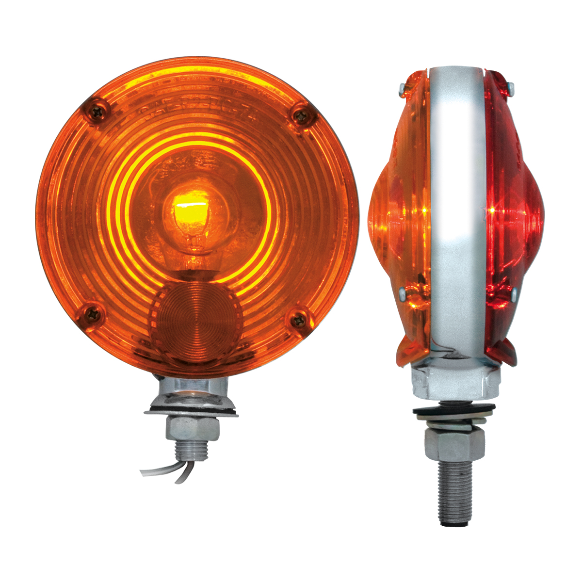 #80305 4  Double Face Pedestal Amber/Red Light - Profile View  sc 1 st  Grand General & 4