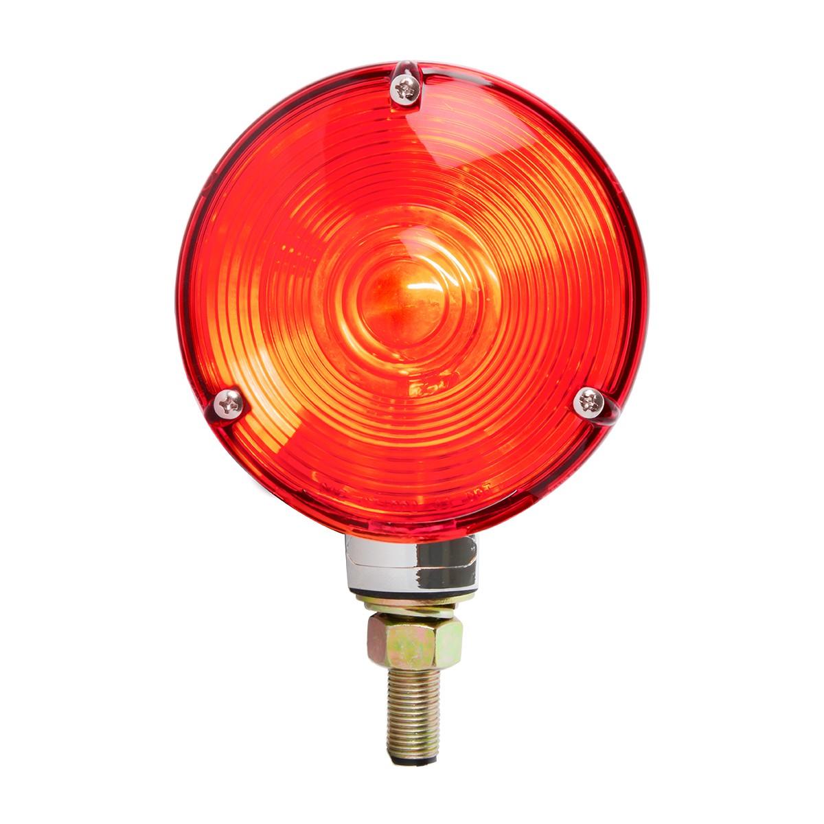 "#80500 4"" Single Face Pedestal Red Light"
