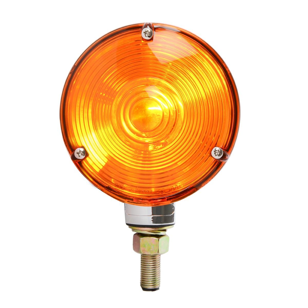"#80501 4"" Single Face Pedestal Amber Light"