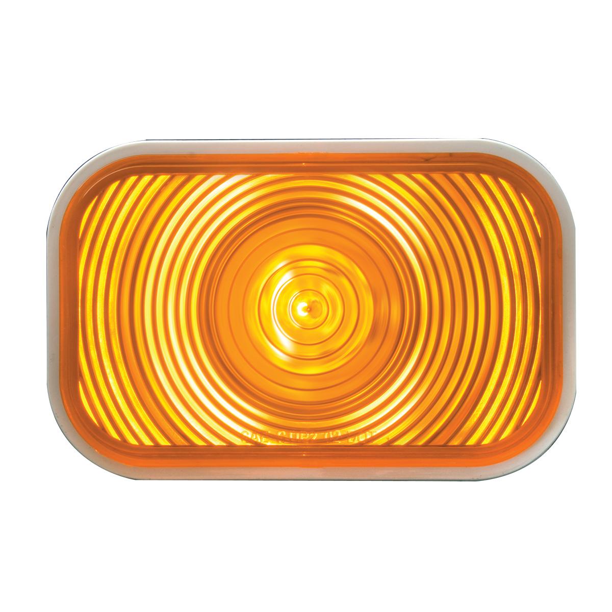 #80771 Rectangular Amber Light Lens Only