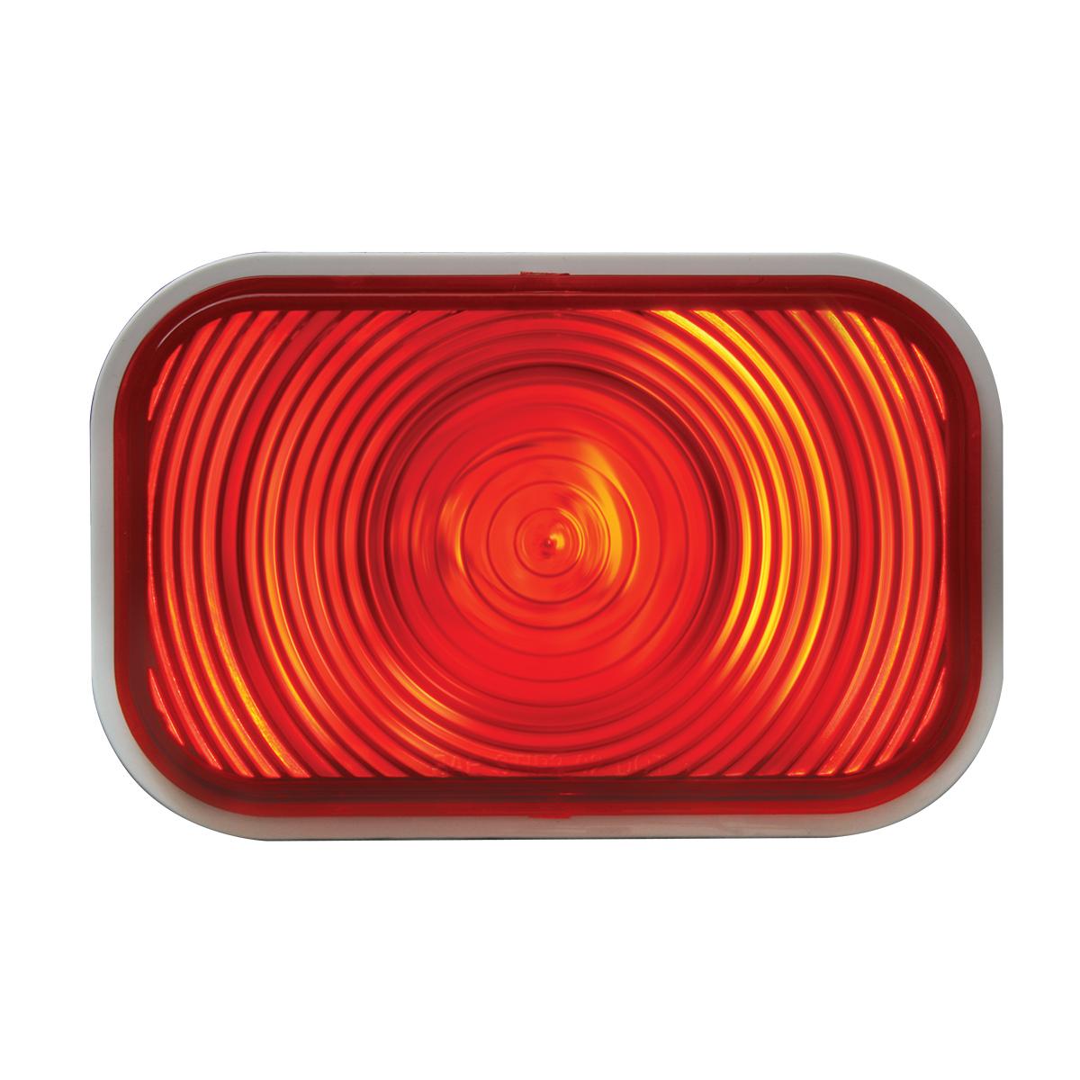 #80761 Rectangular Red Light Lens Only