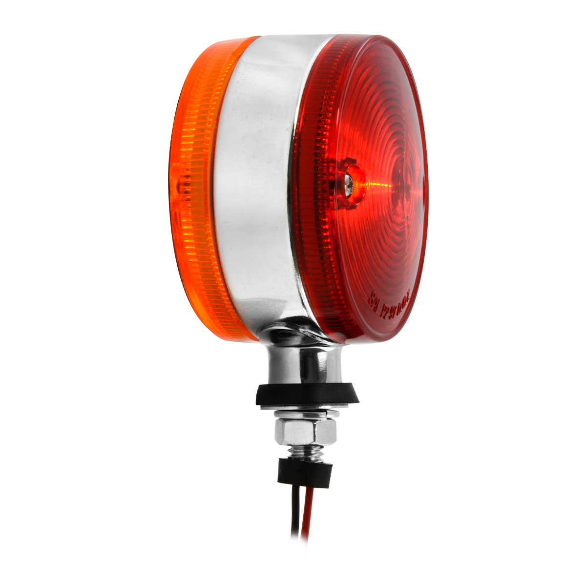 #84330 Double Face Auxiliary Marker & Turn Pedestal Amber/Red Light