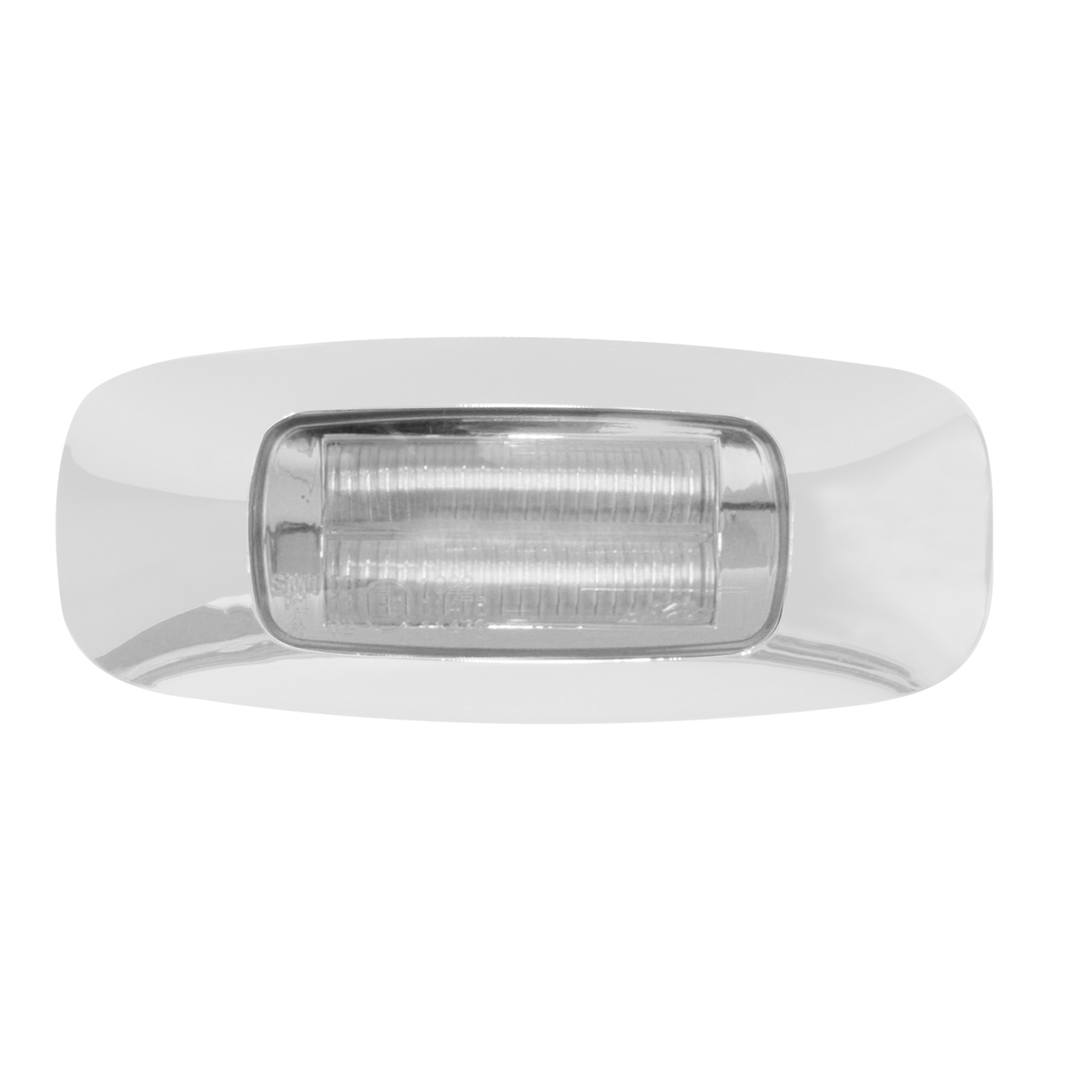 "3.5"" Rectangular Prime LED Marker Light in Clear Lens"